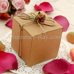 Example of box embellished with jute twine and mulberry flower