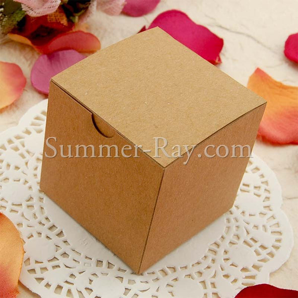 DIY Kraft Bomboniere Favor Boxes with Burlap and Jute Twine