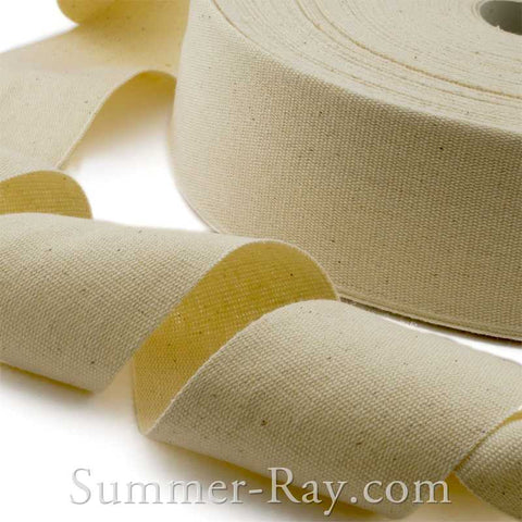 Beige Linen Ribbon - 10 yards