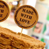 Made with Love Kraft Cupcake Topper