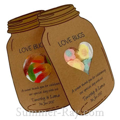 Personalized Kraft Mason Jar Gift Tags for Candy Pouch