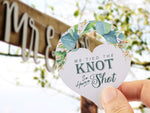We Tied The Knot so Have a Shot Mini Liquor Bottle Hang Tags Wedding Bridal Shower