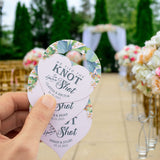 Personalized We Tied The Knot so Have a Shot Mini Liquor Bottle Hang Tags Wedding Bridal Shower