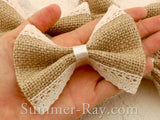 Burlap Bow with Lace