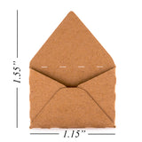 Mini DIY Envelope Brown/Cream/White with Inserts DIY Craft Scrapbooking Card Making