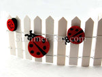 Miniature Fence - with felt ladybugs (ladybugs sold separately)