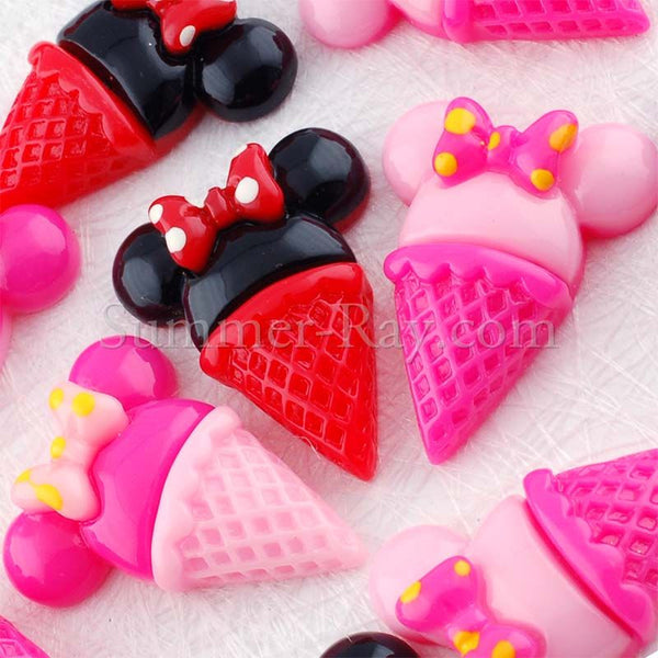 Cabochon Resin Cartoon Ice Cream