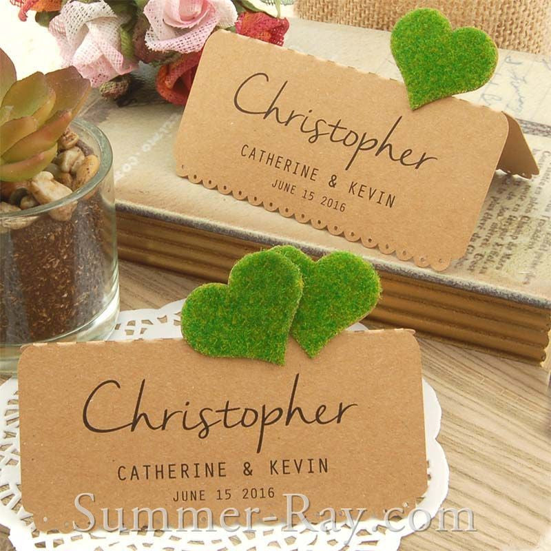 DIY Personalized Natural Kraft Love in the