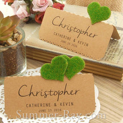 DIY Set Personalized Natural Kraft Love in the Garden Wedding Place Cards