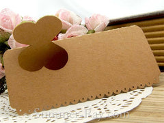 DIY Personalized Natural Kraft Love in the Garden Wedding Place Cards