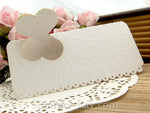 DIY Personalized Natural Love in the Garden White Wedding Place Cards