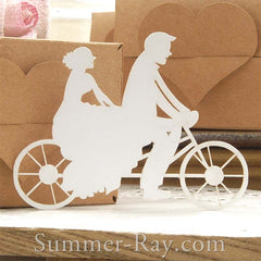 Bride and Groom Cycling Die Cut