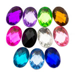 Rhinestones 14mm x 10mm Oval - 50, 500 or 1000 pieces
