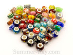 Lampwork Glass Beads Mixed 50 pieces
