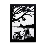 Set of 3 Paper Cut The Enchanted Evening Black and White Wall Art Paper Craft Wall Decoration