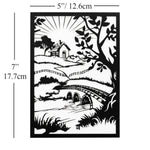 Set of 3 Paper Cut Be Like A Dandelion Black and White Wall Art Paper Craft Wall Decoration