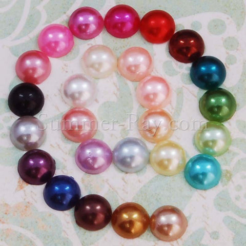 Flat Back Pearls 7mm - 100, 500 or 1000 pieces