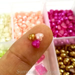 Pearl Hearts 4mm in Storage Box - 3600 pieces