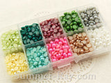 Flat Back Pearls 5mm Mixed Color in Storage Box - 2000 pieces