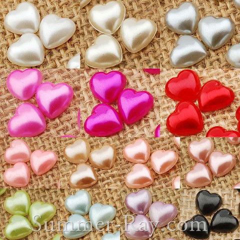 Pearl Heart 10mm - 100, 500, 1000 or 2000 pieces