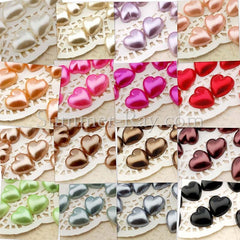 Pearl Heart 13mm - 100, 500 or 1000 pieces