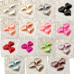 Pearl Heart 15mm - 100 or 1000 pieces