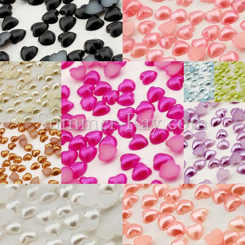 Pearl Heart 4mm - 1000, 5000 or 10,000 pieces