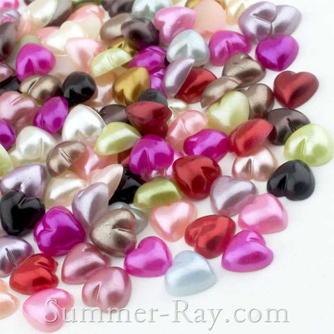 Pearl Heart 8mm - 200, 1000 or 2000 pieces