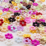 Pearl Beaded Flowers 8mm - 100, 1000 or 2000 pieces