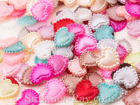 Pearl Lined Hearts 10mm - 1000 pieces