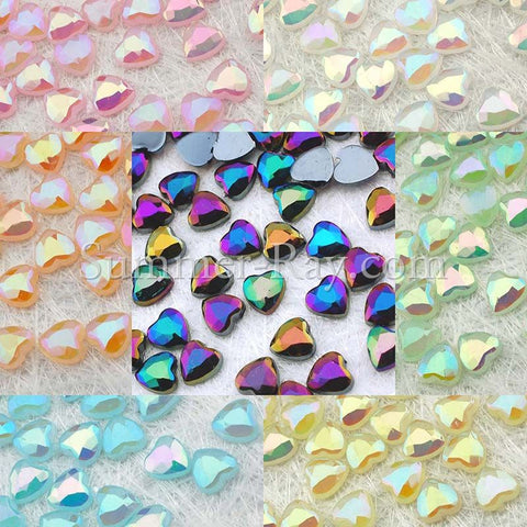 Rhinestones 4mm Glossy Pearl Heart - 1000, 5000 or 10,000 pieces