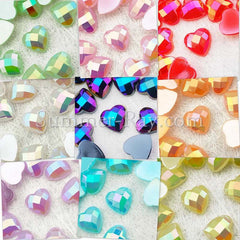 Rhinestones 8mm Glossy Pearl Heart - 100, 500, 1000 or 2000 pieces