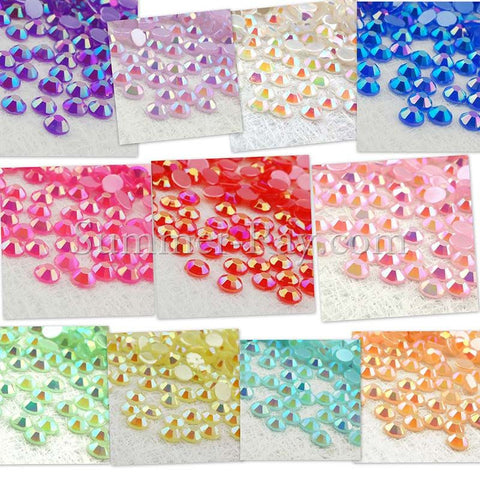 Rhinestones 4mm Glossy Pearl - 1000, 3000, 5000 or 10,000 pieces
