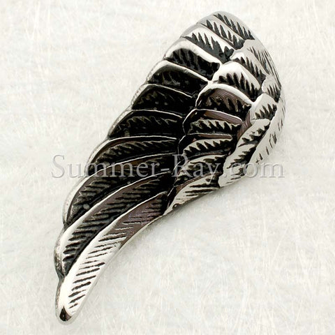Stainless Steel Angel Wing Pendant - (1) one