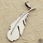 Stainless Steel Feather Pendant - (1) one