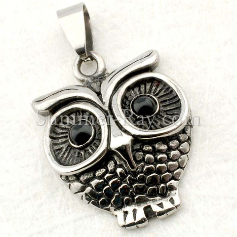Stainless Steel Owl Pendant - (1) one