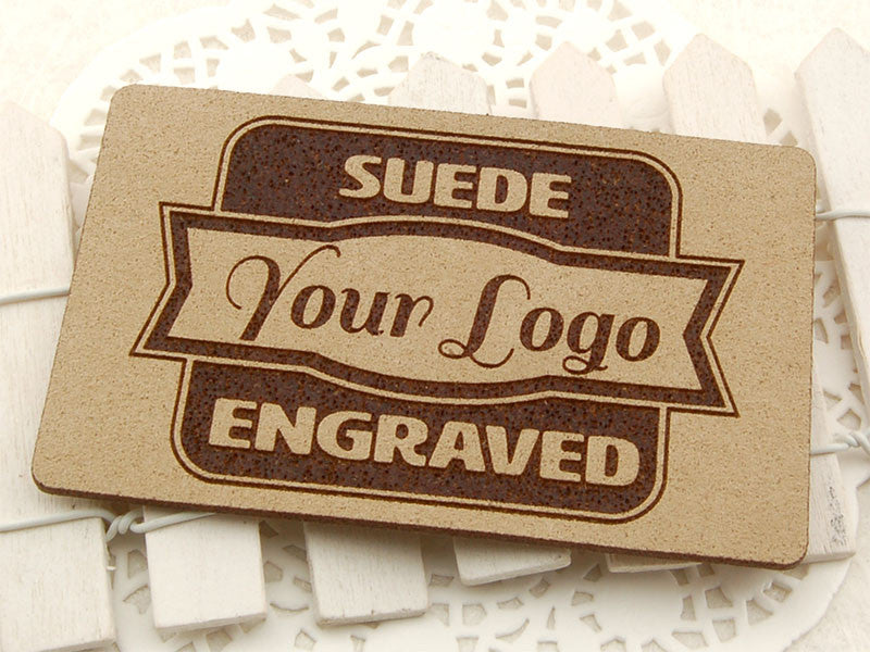 Personalized Laser Engraved Suede Leather Business Tag