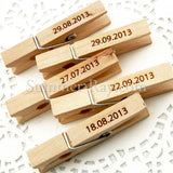 Wooden Peg with Personalized Engraving for Weddings