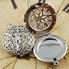 Round Photo Lockets