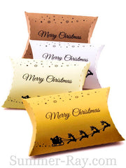Christmas Pillow Favor Gift Boxes