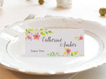 White Glimpse of Spring Wedding Place Cards Escort Card