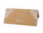 Place Cards Escort Cards with White Lace Curtain Print for Wedding Parties
