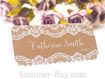 Personalized Printed Lace Place Card Escort Card
