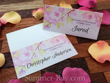 Personalized Love Story Under the Maple Tree Wedding Place Cards/Escort Cards