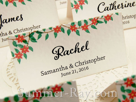 Personalized Spring Party Place Card - 12 to 120 pieces