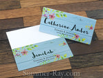Personalized Under the Blue Vintage Floral Wedding Place Cards/Escort Cards