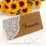 Doily Kraft Place Card after completion