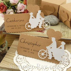 Personalized Laser Cut Kraft DIY Our Love Story Wedding Place Cards