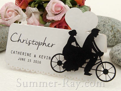 Personalized Laser Cut White DIY Our Love Story Wedding Place Cards