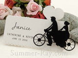 White DIY Our Love Story Wedding Place Cards